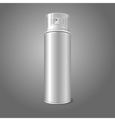 Blank aerosol spray metal 3d bottle can with vector