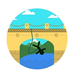 Flat icon for extreme sport rope jumping vector