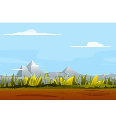 Nature game background landscape vector