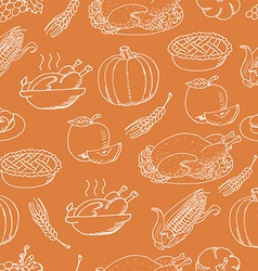 Thanksgiving seamless pattern sketch doodle on vector