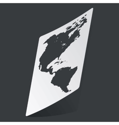 Monochrome america sticker vector