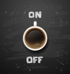 Coffee on off vector