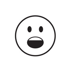Cartoon face screaming people emotion icon vector