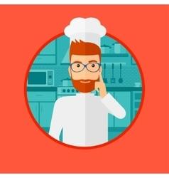 Chef having an idea vector image