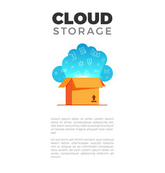 cloud storage banner vector image vector image