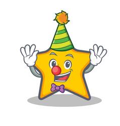 Clown star character cartoon style vector