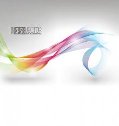 Colors winding design vector