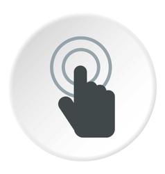 Cursor hand icon flat style vector