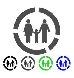 family diagram flat icon vector image