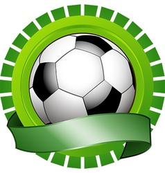 football shield vector image