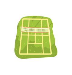 green tennis court cartoon vector image