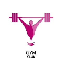 Logo gym club vector