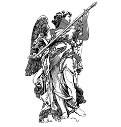 Original sketch digital drawing of marble statue vector