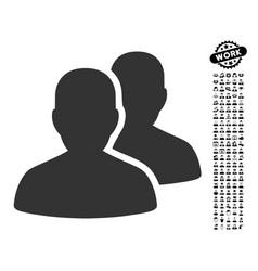 Patients icon with work bonus vector