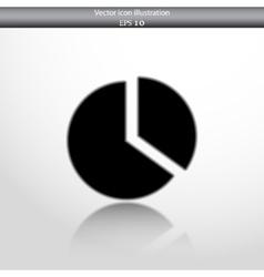 Pie chart web flat icon vector