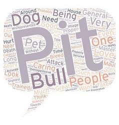 Pit bulls are worthy pets text background vector