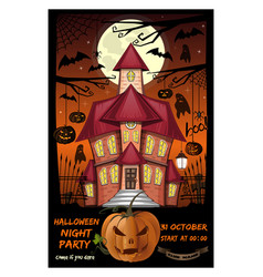 Poster for halloween night party vector