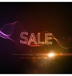 Sale neon 3d sign vector