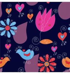 tulips hearts vector image vector image