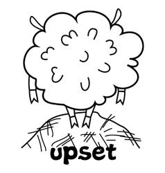 Upset sheep vector