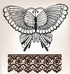 vintage lace embroidery vector image vector image