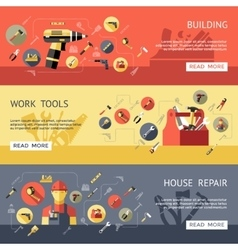 Work Tools Banner Set vector image