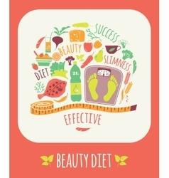 Beauty diet vector