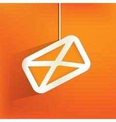 Web letter iconflat design vector image