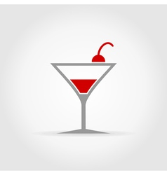 Alcoholic cocktail vector