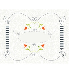 Background for wedding or invitation with floral vector image
