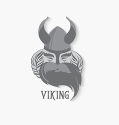 Viking logo vintage design vector