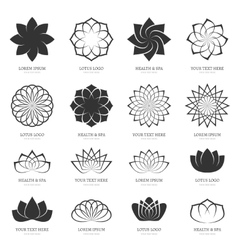Abstract lotus flowers for spa yoga class vector image