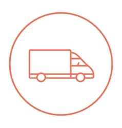 Delivery truck line icon vector