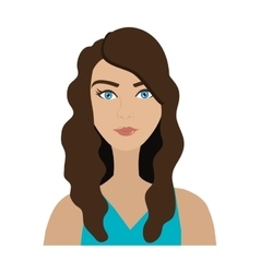 Cartoon avatar woman front view vector