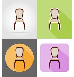 Furniture flat icons 35 vector