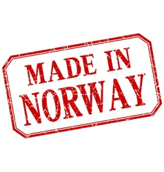 Norway - made in red vintage isolated label vector
