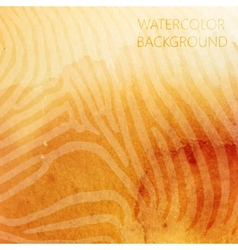 abstract orange watercolor background with animal vector image vector image