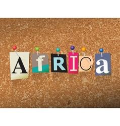 Africa concept vector