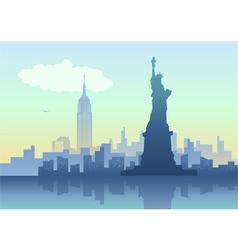 An of New York City skyline vector image vector image