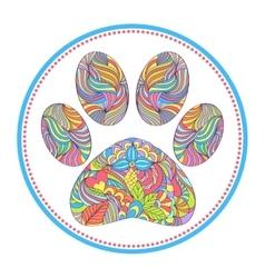 Animal paw print vector