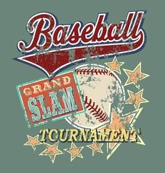 Baseball grandslam tournament vector