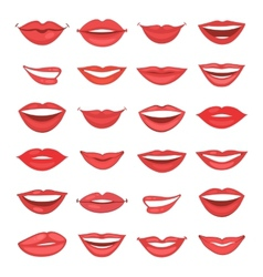 Beautiful lips collection vector image