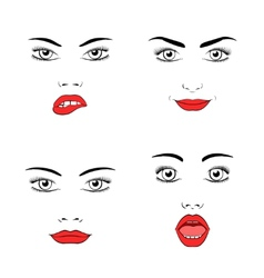 Beautiful woman face silhouette vector image