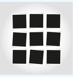 blank empty square photo frames composition vector image vector image