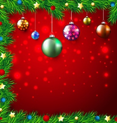 Christmas Colorful Background vector image vector image