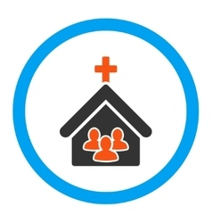 Church rounded icon vector