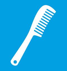 Comb icon white vector