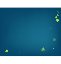 Delicate Shamrocks on Blue Backgrond vector image vector image
