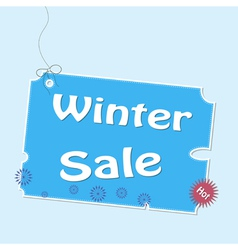 Discount winter labels vector image vector image