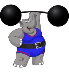 Elephant strongman vector